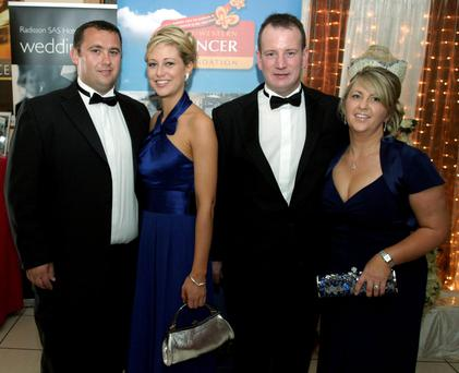 Jason Corbett with Molly Martens Corbett, and David and Tracey Lynch, who now have custody of the children