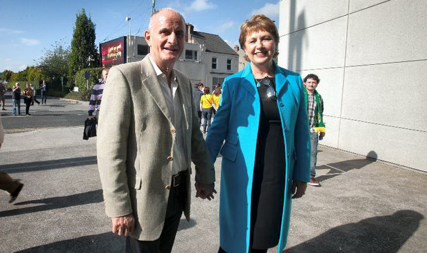 Martin McAleese with former Former President of Ireland Mary McAleese