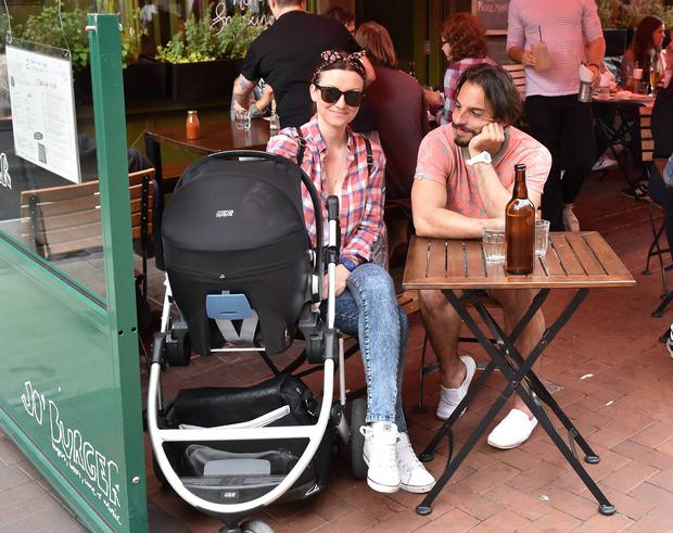 TV presenter Jennifer Maguire & husband Lauterio Zamparelli with new baby daughter.