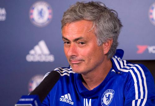 Chelsea manager Jose Mourinho during his press conference today Action Images via Reuters / Alan Walter