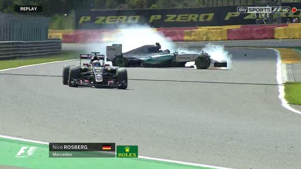 Nico Rosberg was fortunate he did not collide with a wall