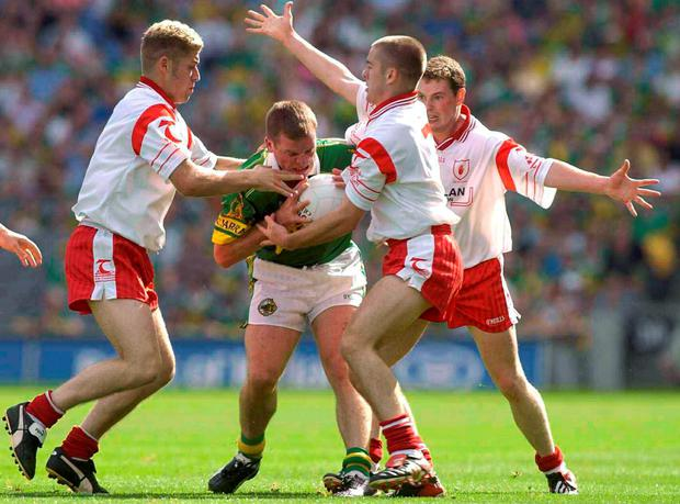 Unfinished business  2003 - Tyrone 0-13 Kerry 0-6. Dara O 1ba848a1c