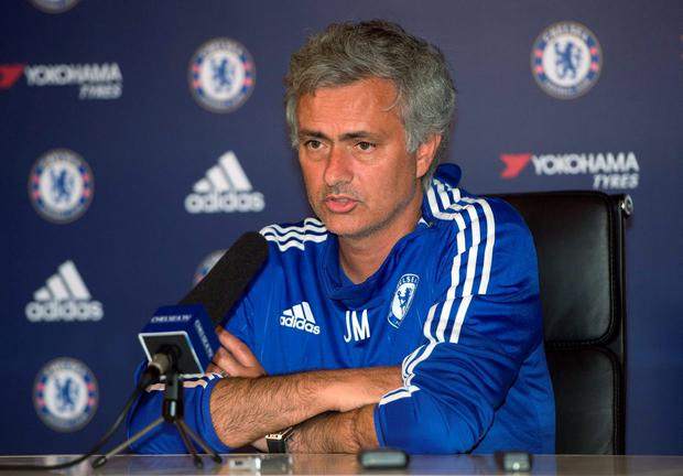 Chelsea manager Jose Mourinho pictured in a press conference ahead of tomorrow's clash at West Brom