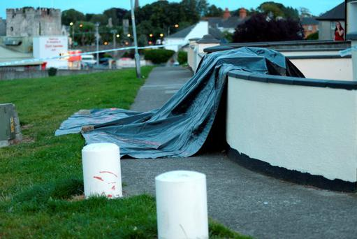 21 Aug 2015; General view of scene preserved by Gardai. Green hills, Athy, Co. Kildare. Picture: Caroline Quinn