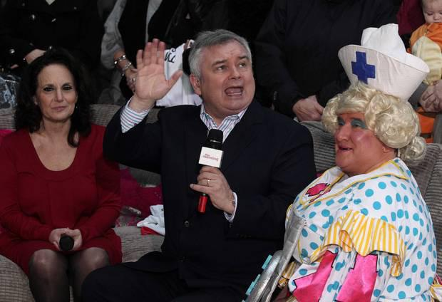 Eamonn Holmes with May McFettridge and Lesley Joseph