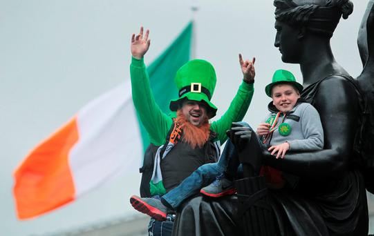 File photo dated 17/03/14 of people during the Dublin St. Patrick's day parade as the city is now the cheapest city for culture vultures, according to a new report.