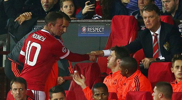 Louis van Gaal substituted Wayne Rooney against Club Brugges on Tuesday