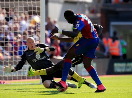 Crystal Palace's Bakary Sako in action during the Barclays Premier League match at Selhurst Park