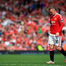 Manchester United's Wayne Rooney appears dejected late in the game