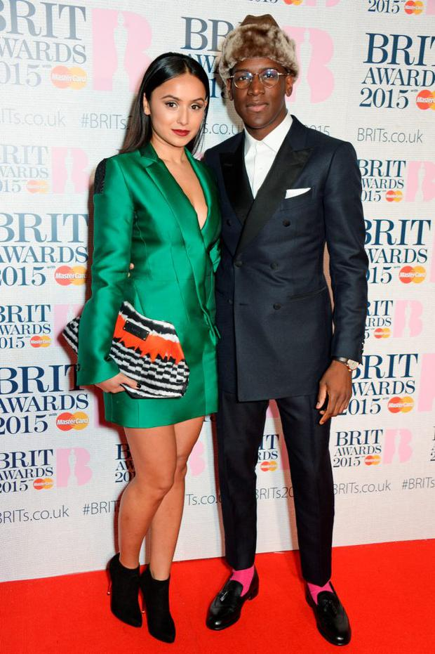 Labrinth and his girlfriend Muz at the BRIT Awards together in February