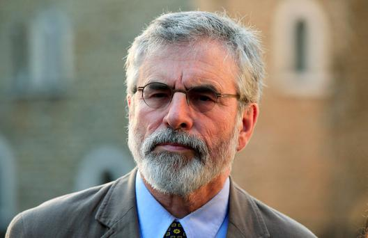 File photo dated 21/07/15 of Sinn Fein president Gerry Adams who has insisted that the IRA was not involved in the murder of Kevin McGuigan. Jonathan Brady/PA Wire
