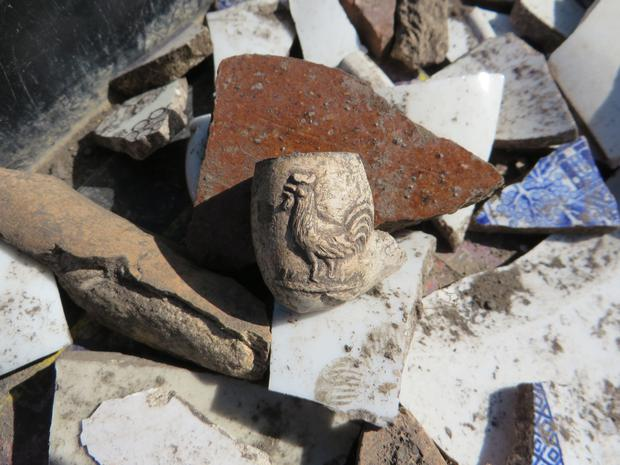 Artifacts uncovered at the Swords Castle archaeological dig this heritage week Photo: Heritage week