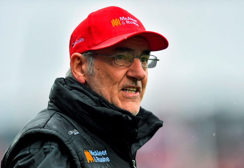 Tyrone manager Mickey Harte. GAA Football All-Ireland Senior Championship, Semi-Final, Kerry v Tyrone. Croke Park, Dublin. Picture credit: Ramsey Cardy / SPORTSFILE