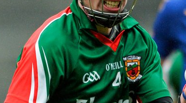 Mayo's David Kenny was sent off for a second yellow on the approach to half time