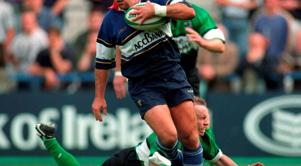 McQuilkin in action for Leinster during his playing days