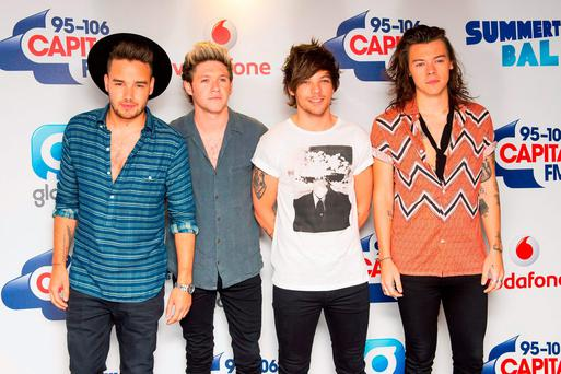 From left: Liam Payne, Niall Horan, Harry Styles and Louis Tomlinson