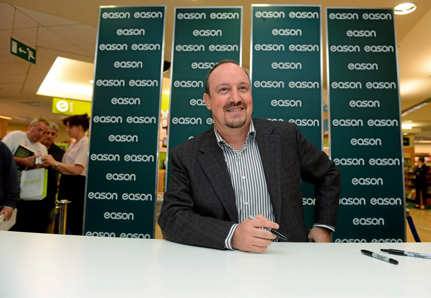 13 September 2012; Former Liverpool FC manager Rafa Benitez at a signing session for his new book, Champions League Dreams, which is available from Eason stores nationwide and from easons.com. Rafa Benitez Book Signing, Easons, O'Connell Street, Dublin. Picture credit: Brian Lawless / SPORTSFILE