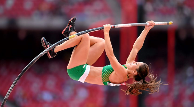 Tori Pena in action during the Women's Pole Vault qualification event. IAAF World Athletics Championships Beijing 2015 - Day 3, National Stadium, Beijing, China. Picture credit: Stephen McCarthy / SPORTSFILE
