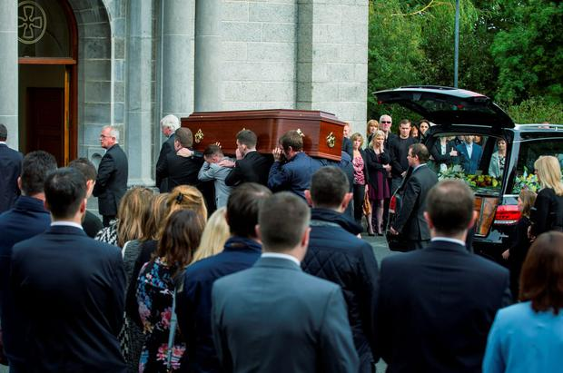 Funeral of 98fm DJ Johnny Lyons at the Church of St. Therese, Mt. Merrion. (Photo: Doug O'Connor)