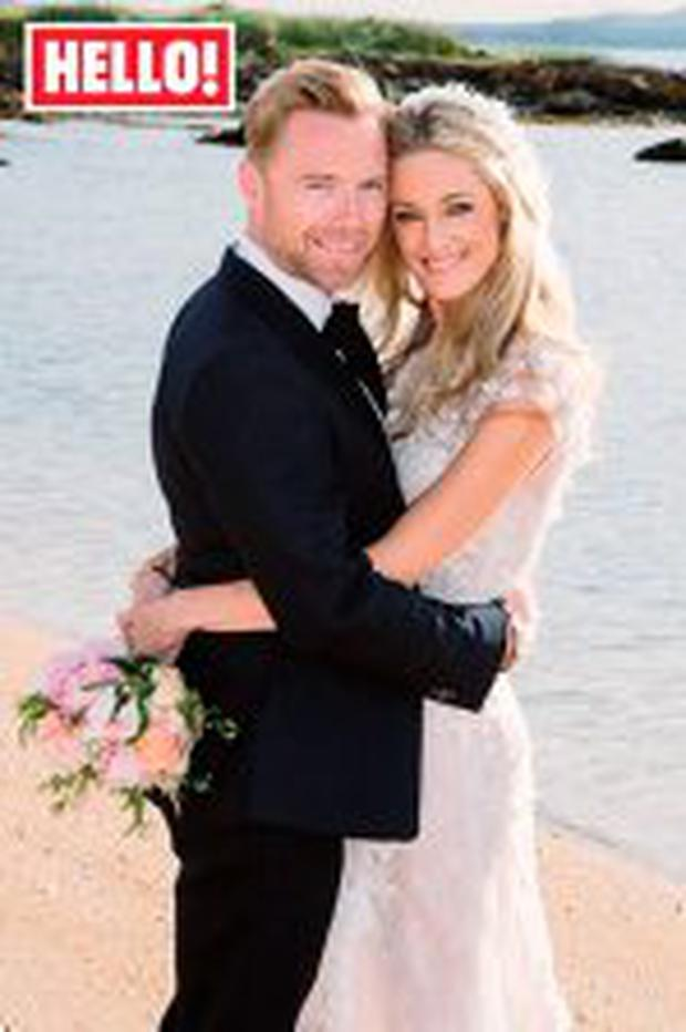 Ronan and Storm Keating shared pictures of their lavish Scottish wedding with Hello! magazine.