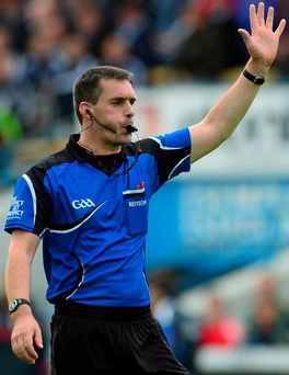 James Owens officiates during the All-Ireland Hurling Quarter-Final between Galway and Cork