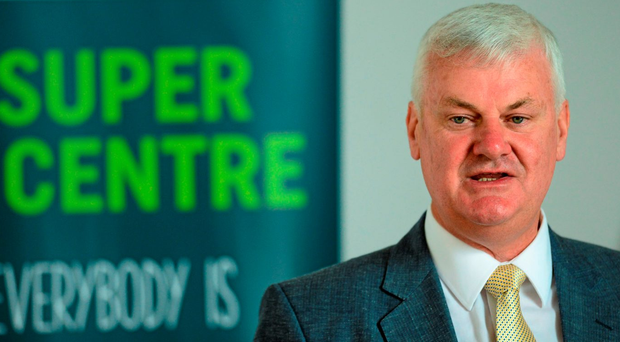 GAA president Aogán Ó Fearghail speaking at the launch of the Super Games Centre Research Results in Croke Park
