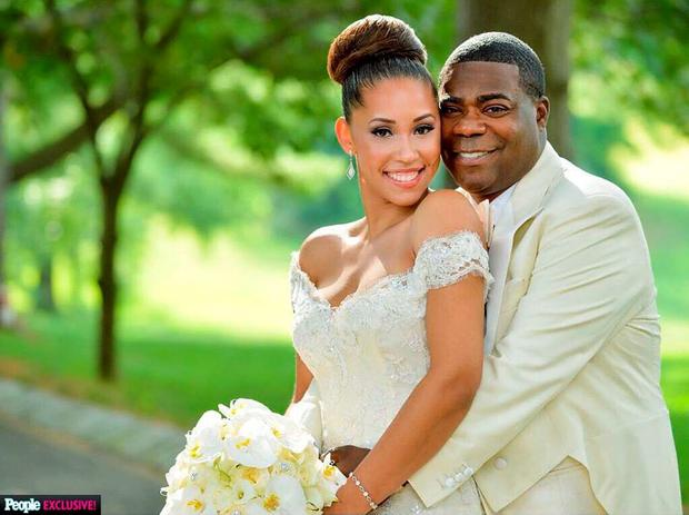 Tracy Morgan weds Megan Wollover in New York. Picture: People Magazine