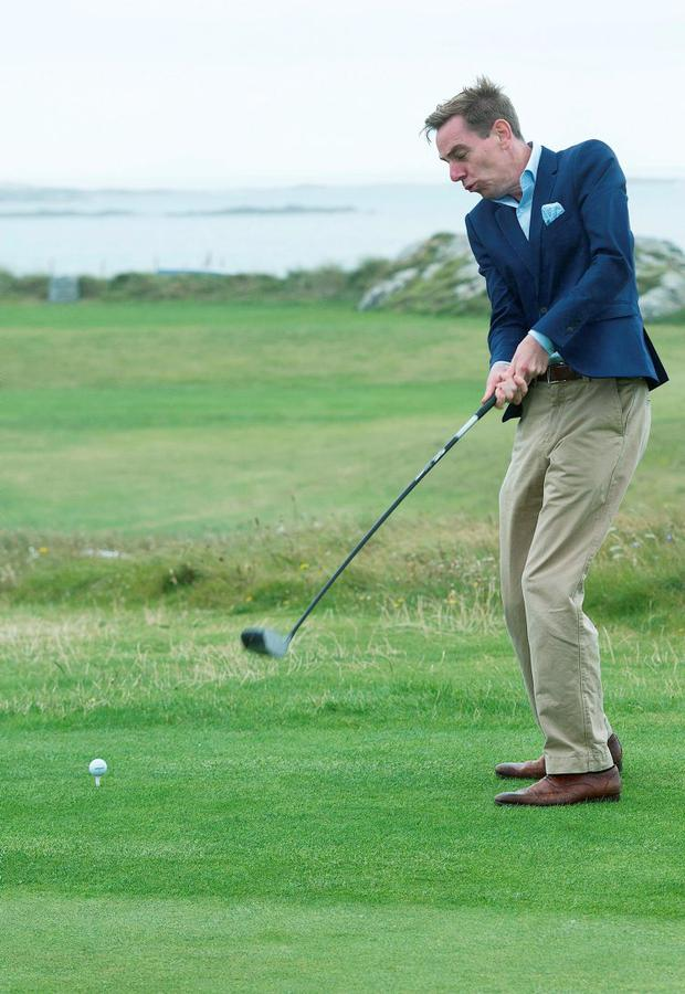 Ryan Tubridy at Connemara Golf Club in Ballyconneely. Photo: Andrew Downes/Xposure.