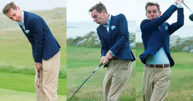 Ryan Tubridy at Connemara Golf Club in Ballyconneely Co Galway who received honorary Life Membership from the Club. Photo: Andrew Downes, xposure.