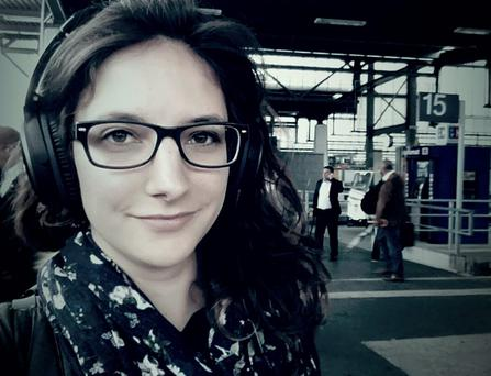 Leonie Müller (23) who has given it all up to live on a train. Photo via 'Wherever You Go There You Are'