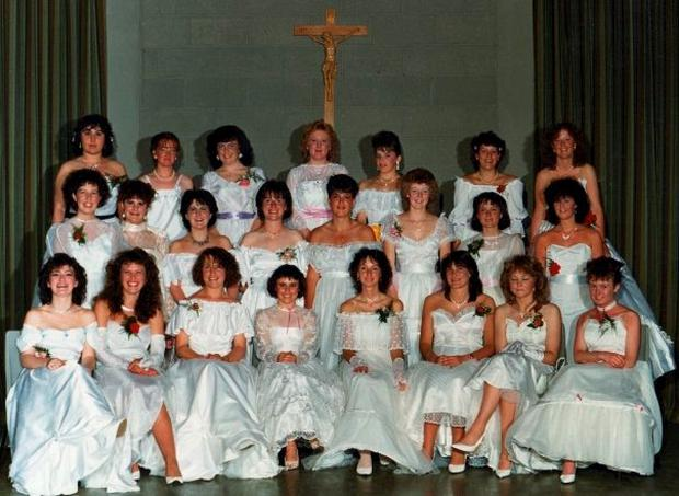 Andrea Smith at her debs (top left)