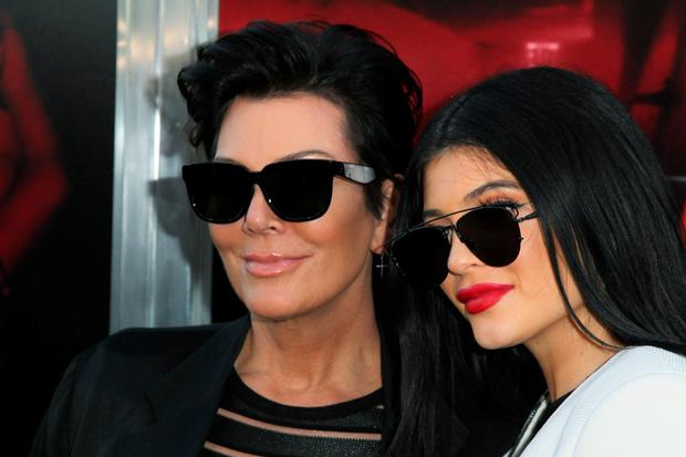 Kris Jenner and Kylie Jenner attend New Line Cinema's Premiere Of