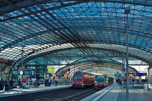 Berlin Hauptbahnhof is the main railway station in the German capital