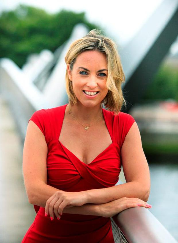 RTE broadcaster Kathryn Thomas issues a #RedAlert to women to know the risks of heart disease and stroke at the CHQ Building
