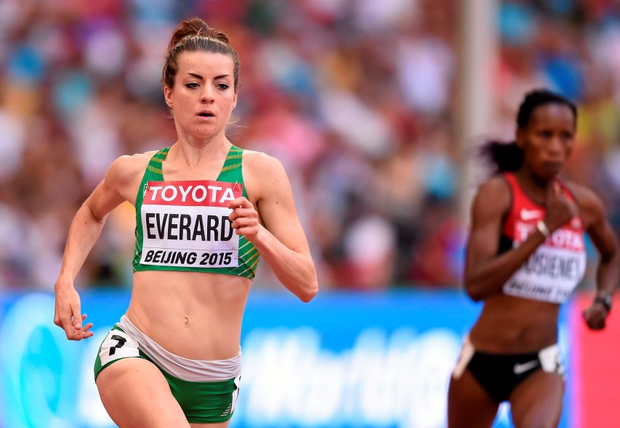 Ciara Everard in action during the heats of the Women's 800m event. IAAF World Athletics Championships Beijing 2015 - Day 5