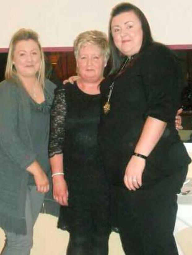 Antoinette, Julie-Ann and Louise Travers shed 14stone
