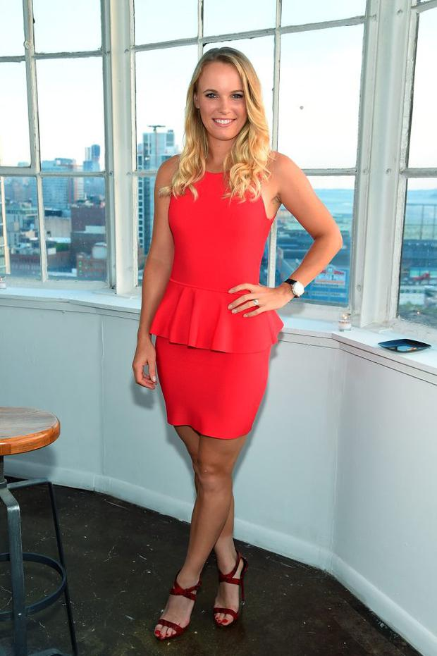 f51f31b54b5 Tennis player Caroline Wozniacki attends the Player's Tribune party to  celebrate women in sports and the