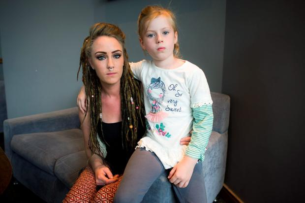 Leanne Cooney (26) and her daughter Carly (6).
