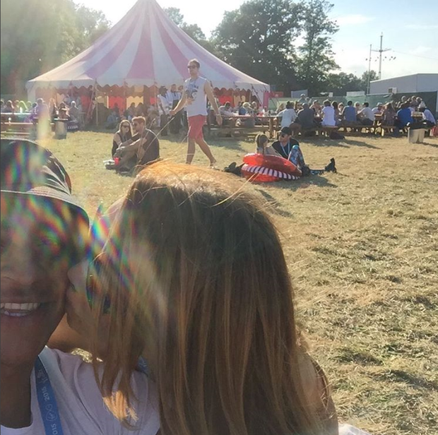 Katie and James at V Festival