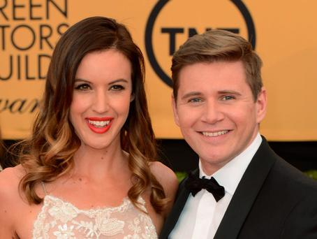 Charlie Webster is in a relationship with Downton Abbey's Allen Leech