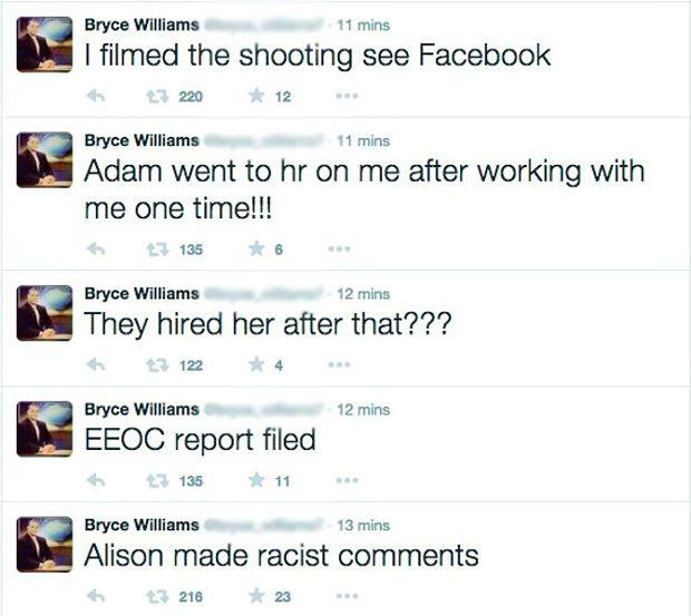 Vester L. Flanagan posted a series of tweets accusing his colleagues of 'racial comments'