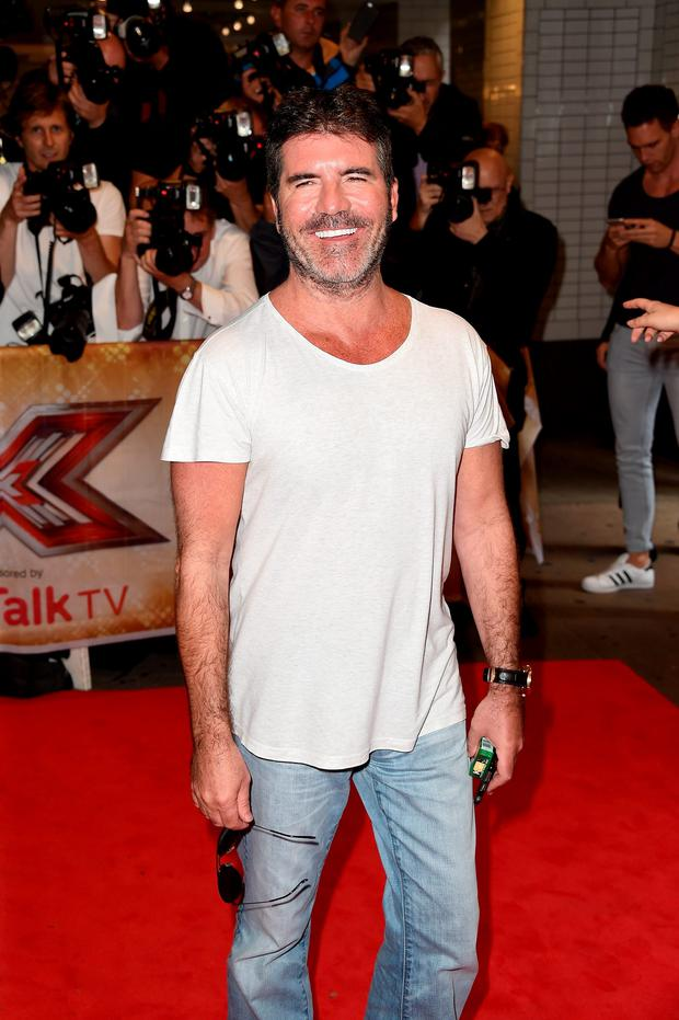 Simon Cowell attends the press launch of