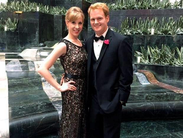 Alison Parker with her partner, who also worked at WDBJ7