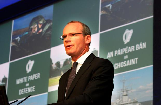 Simon Coveney,TD, the Minister for Defence who launched the Government's White Paper on Defence at Dublin Castle yesterday