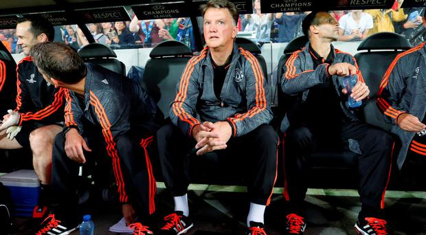 Manchester United manager Louis van Gaal before the match