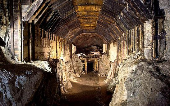 Part of a subterranean system built by Nazi Germany in what is today Gluszyca-Osowka in Poland Credit: AP