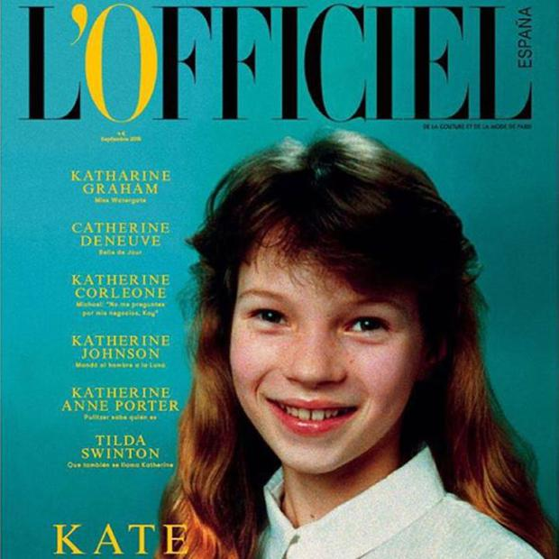 Kate Moss covers L'Officiel magazine
