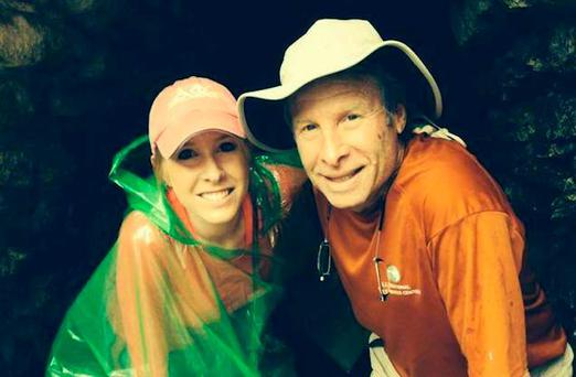 Alison Parker and her father Andy Parker - who has called for stricter gun control in the US