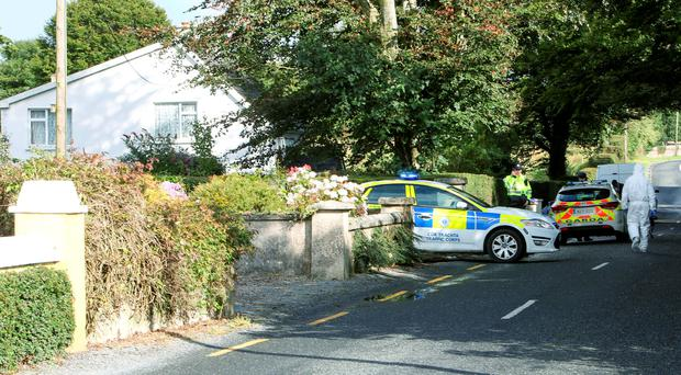 The scene in Toomaline, Co Limerick where John O'Donoghue's body was found following a suspected burglary