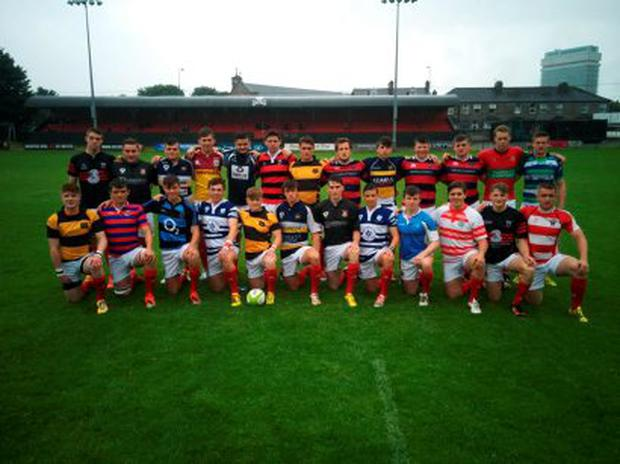 Munster U18 players in their club jersies